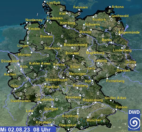 Schneehöhen in Deutschland