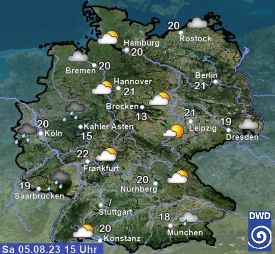 Aktuelles Wetter in Deutschland