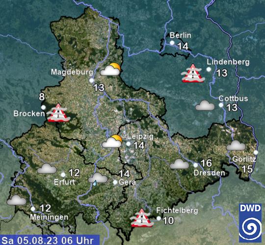 Aktuelles Wetter und aktuelle Temperaturen in Sachsen-Anhalt