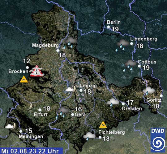 Aktuelles Wetter - Sachsen