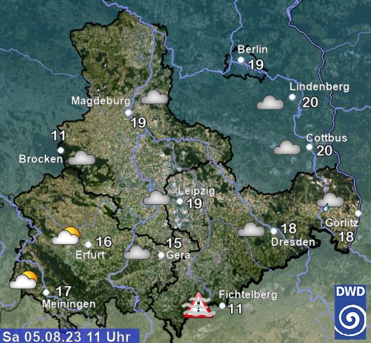 Aktuelles Wetter und aktuelle Temperaturen in Thüringen