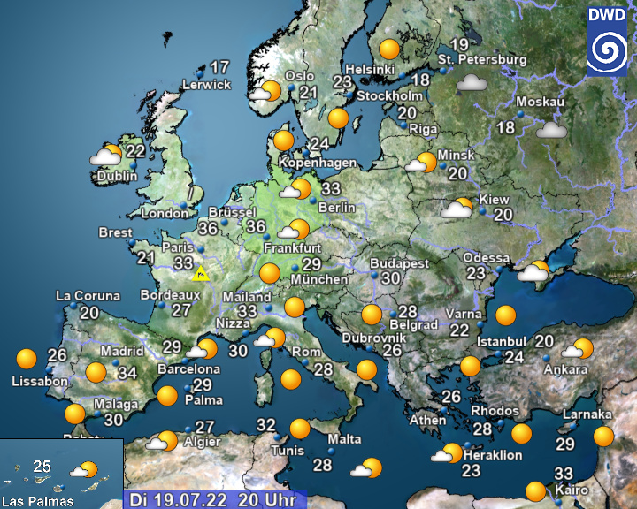 actueel weer Europa (DWD)