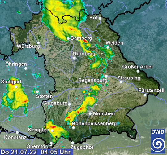 Bayern - Radarbild