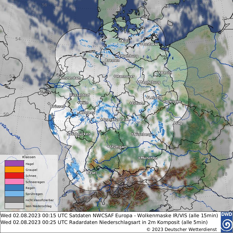 Satellitenwetter Europa