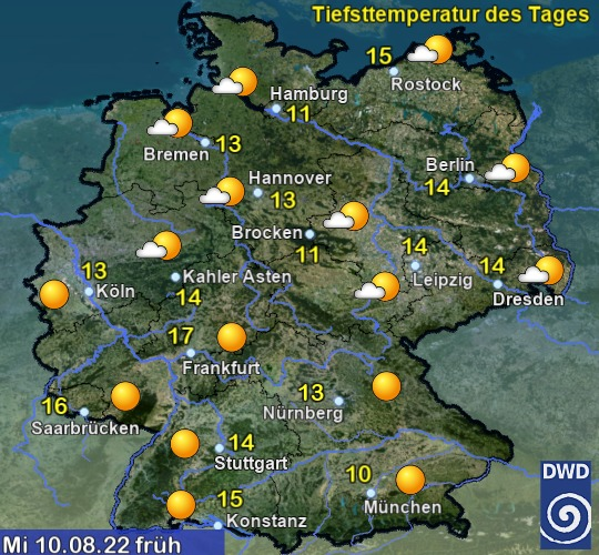Wetter morgenfr�h