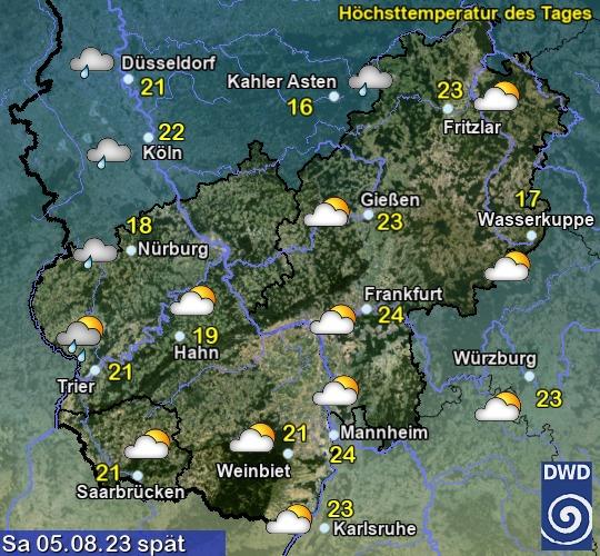 Vorhersage heute - Spät - Deutscher Wetterdienst