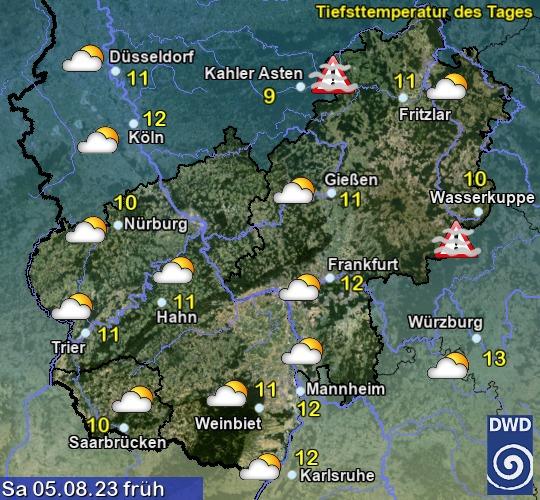 Vorhersage morgen - Früh - Deutscher Wetterdienst