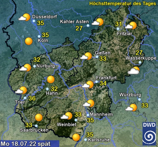 Vorhersage morgen - Spät - Deutscher Wetterdienst