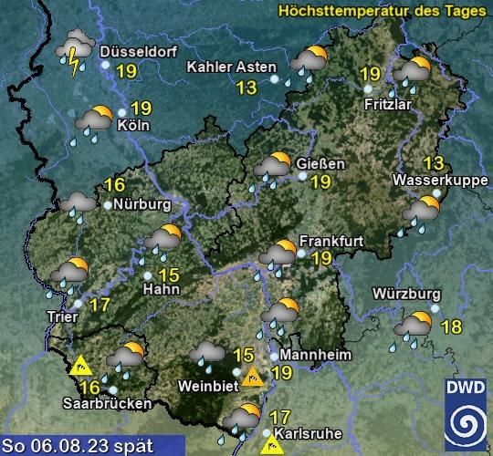 Rheinlandpfalz und Saarland Vorhersage