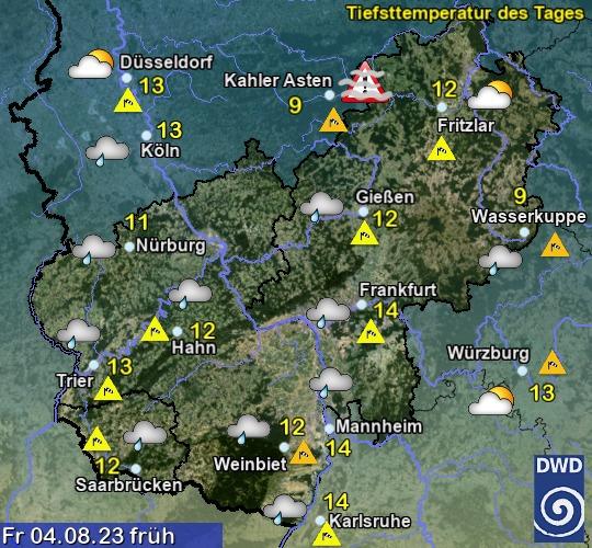 Vorhersage in 3 Tagen - Früh - Deutscher Wetterdienst