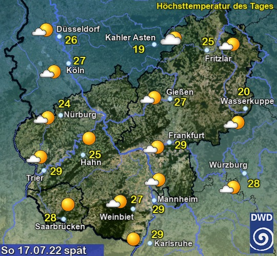 Vorhersage in 3 Tagen - Spät - Deutscher Wetterdienst