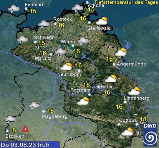 Wetter morgen früh in Mecklenburg-Vorpommern