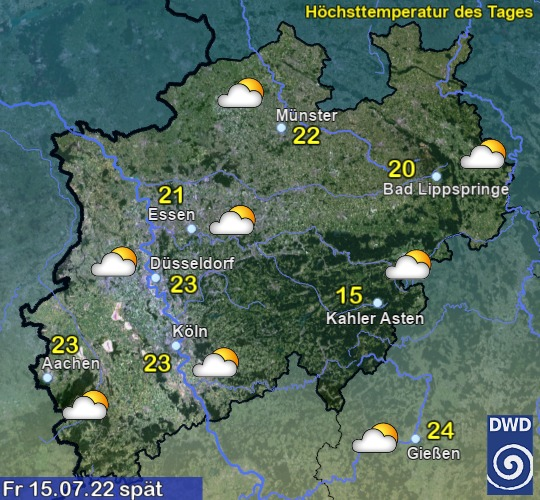 Nordrhein-Westfalen Vorhersage