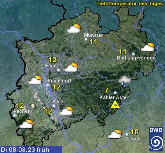 Wettervorhersage übermorgen früh