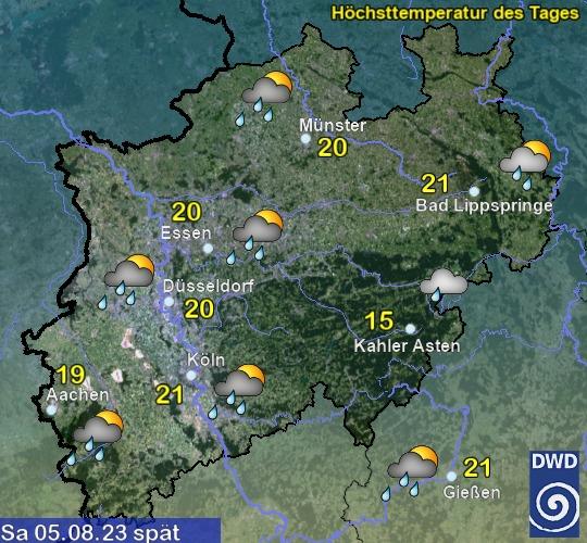 Wettervorhersage übermorgen spät