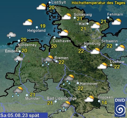 Schleswig-Holstein und Hamburg Vorhersage