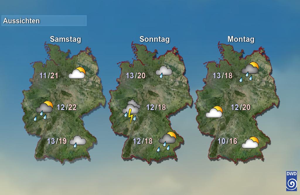 Wetter Vorhersage Tag 2-4