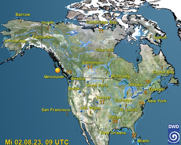 Current Weather Map North America.Wetter Und Klima Deutscher Wetterdienst North America
